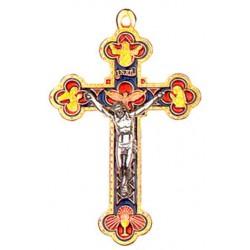 Croix Jubilé dorée résine couleur