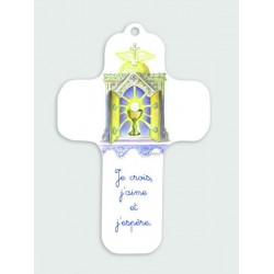 Croix blanche en bois saint...