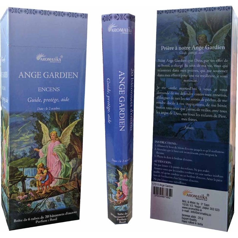 Bâtonnets d'encens Aromatika ange Gardien 100% Naturel.