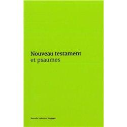 Nouveau Testament et Psaumes - Couverture vinyle verte