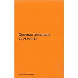 Nouveau Testament et Psaumes - Couverture vinyle orange