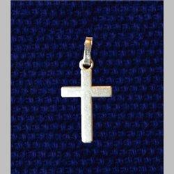 Croix 16cm vieil argent